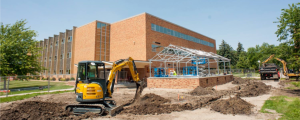 NSU Greenhouse under construction in July 2015. Photo courtesy of Greg Smith and Northern State University.