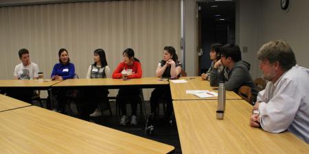 Recent meeting of Northern State University's English Corner. Photo credit: Balie Albrecht.