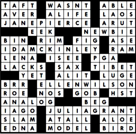 Crossword Answers