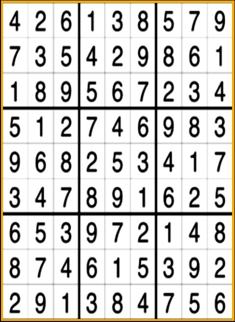 Sudoku Answers(Medium)